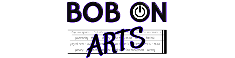 Bob On Arts Logo - Click to return to Home Page